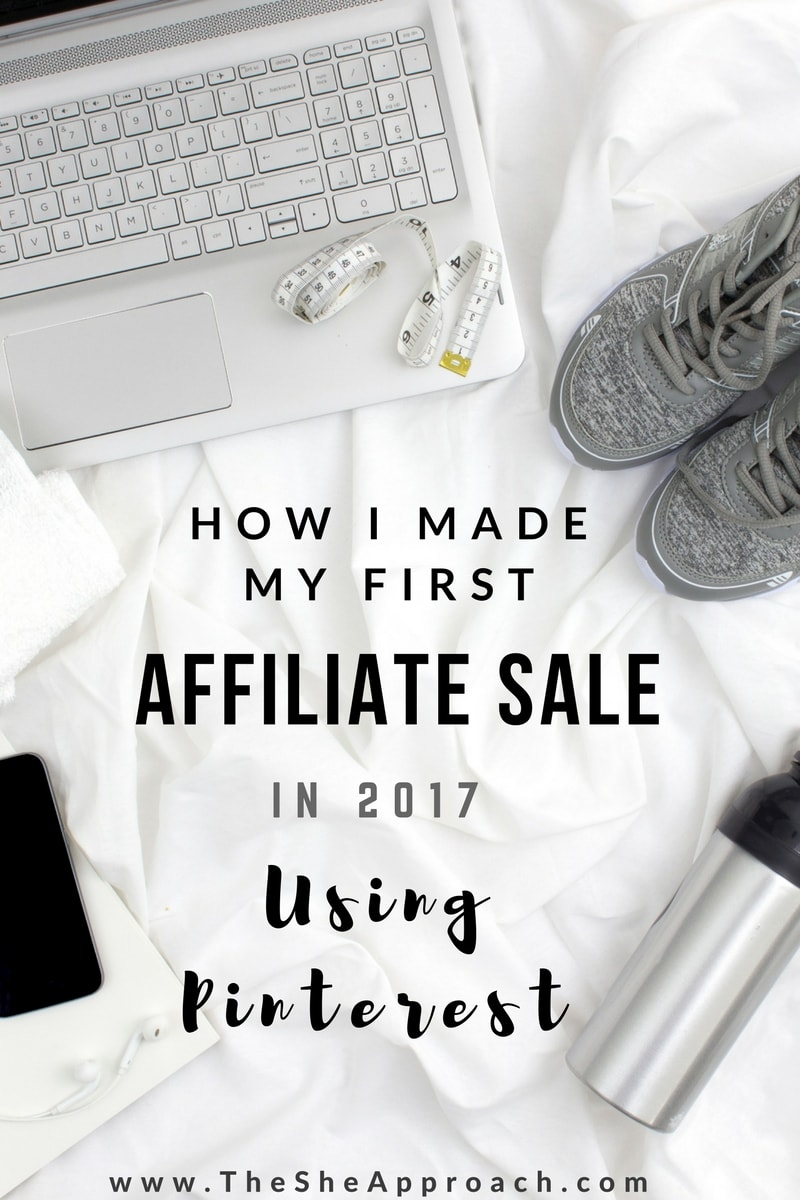 How I made my first affiliate sale in 2017