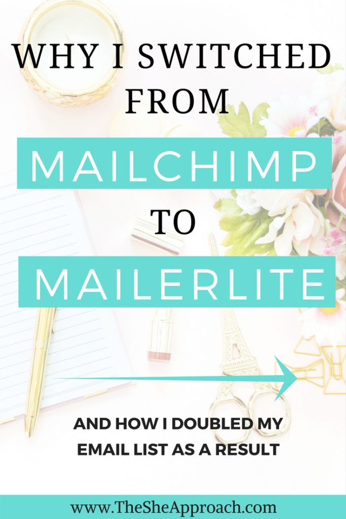 Learn more about the importance of building an email list for bloggers and find out why I switched from Mailchimp to Mailerlite to grow my own! Email marketing tips for bloggers.