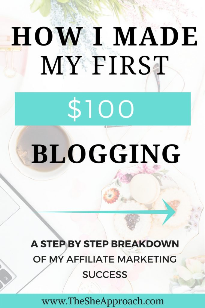 Learn how I made my very first $100 blogging and the strategy behind it. I share my affiliate marketing strategy and more tips for newbie bloggers.