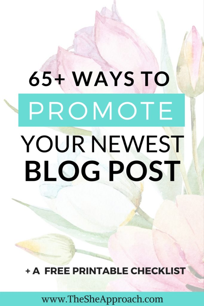 Looking for ideas on where to promote your blog posts and get more traffic to your blog? Get my free printable list and grow your blog today!